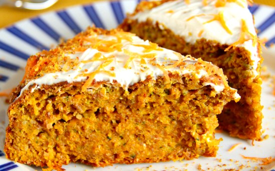 Пирог морковный на кефире