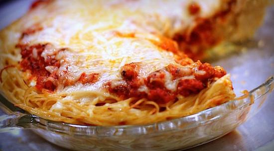 Пирог из спагетти