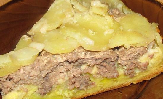 Рецепт заливного пирога с фаршем