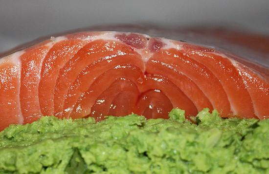 Семга для рыбного пирога