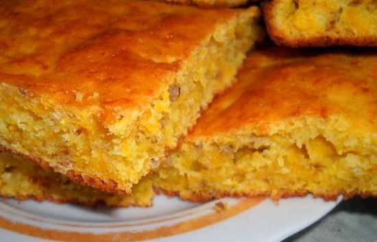Вкусный пирог с тыквой